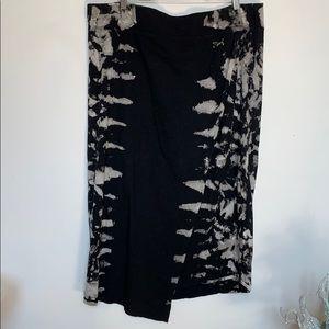 DKNY JEANS Tie Dye Comfortable Cotton MIDI Skirt